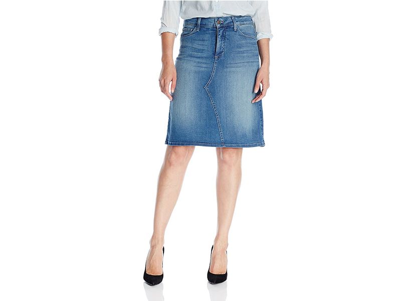 NYDJ Alice A-Line Jean Skirt in Denim Istanbul Wash