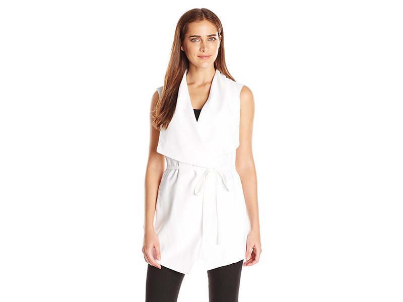 NYDJ Sleeveless Cascade Jacket