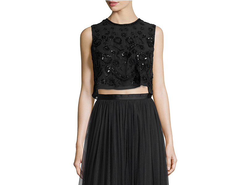 Needle & Thread Embellished Floral-Embroidery Crop Top_1