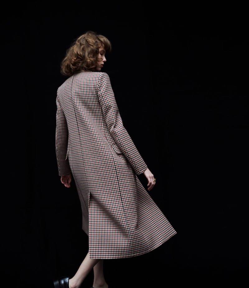 Nina Ricci Checked Flannel Coat