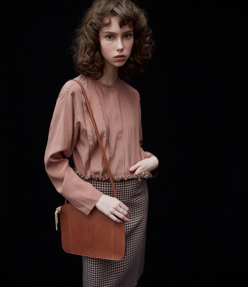 Nina Ricci Pleated-Front Blouse