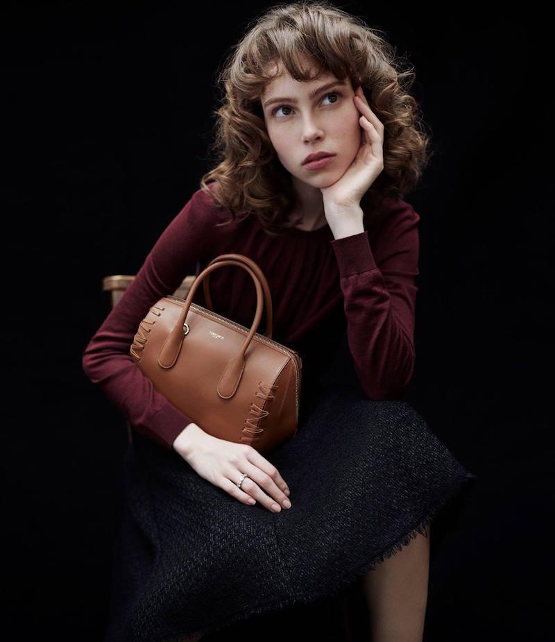 Nina Ricci Pleated-Neck Sweater