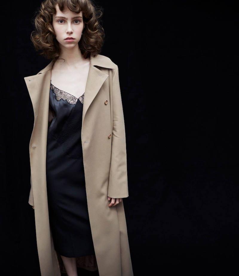 Nina Ricci Wool Gabardine Trench Coat