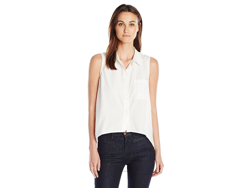 Noisy May Cana Sleeveless High Low Button Down Shirt