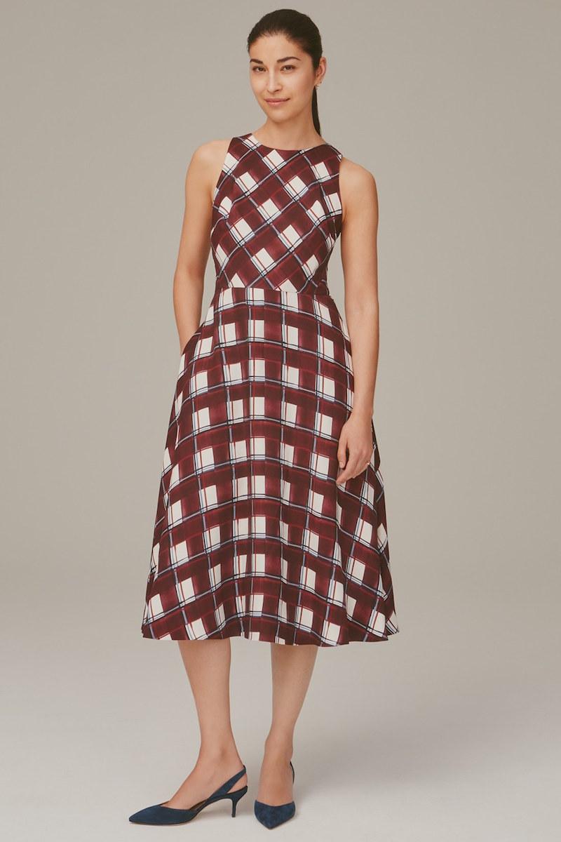 Nordstrom Signature and Caroline Issa Brenda Print Silk Georgette A-Line Dress