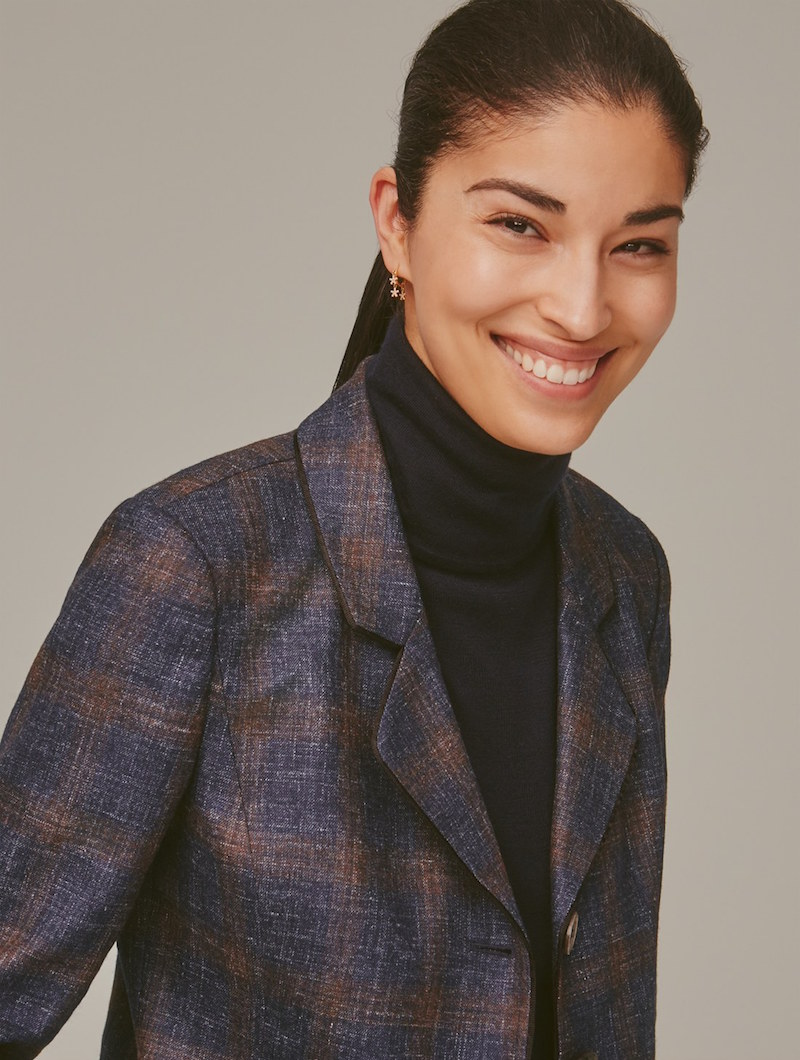 Nordstrom Signature and Caroline Issa Wool, Silk & Linen Plaid Jacket