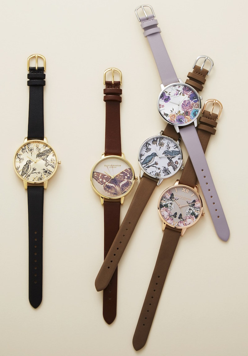 Olivia Burton Animal Motif 38mm Leather Strap Watch