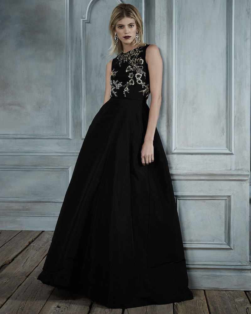 Oscar de la Renta Sleeveless Embellished-Bodice Ball Gown