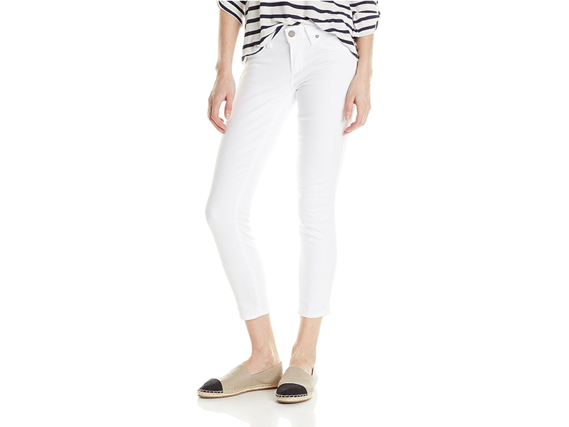 PAIGE Verdugo Cropped Jean In Ultra White