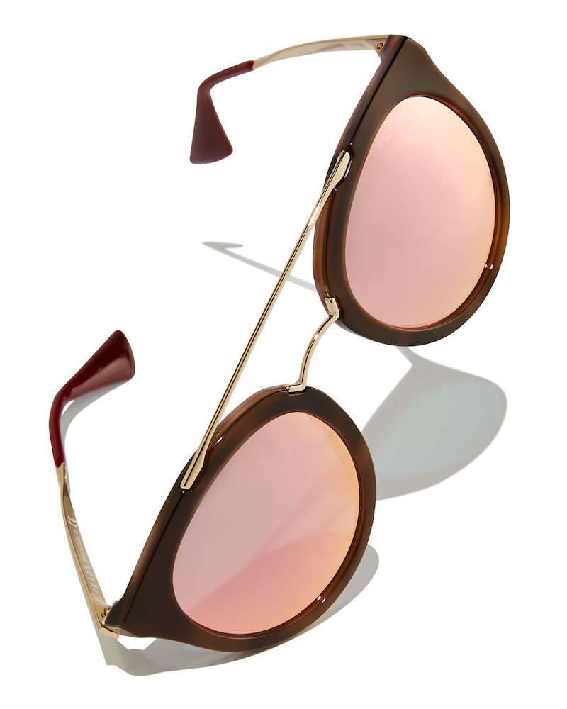 Prada Iridescent Geometric Sunglasses