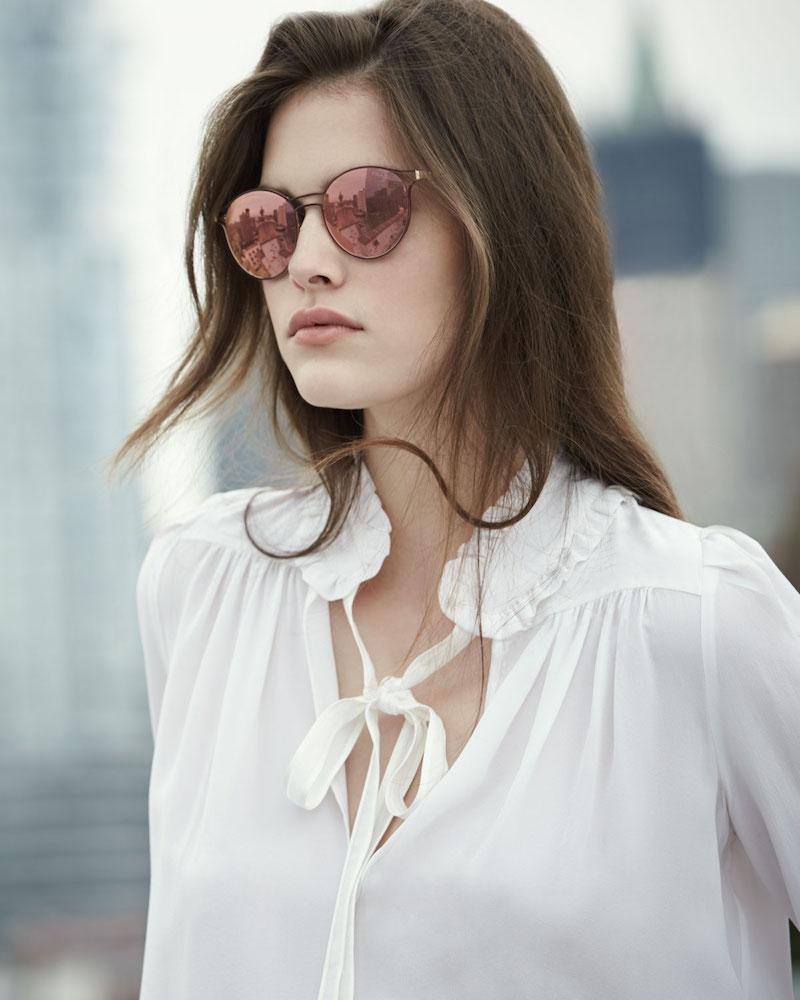 Prada Round Metal Open-Inset Sunglasses