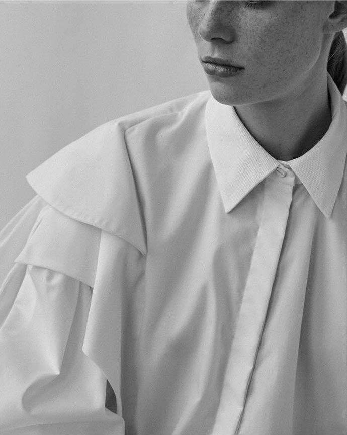 Preen Caron Asymmetric Ruffled Shirt