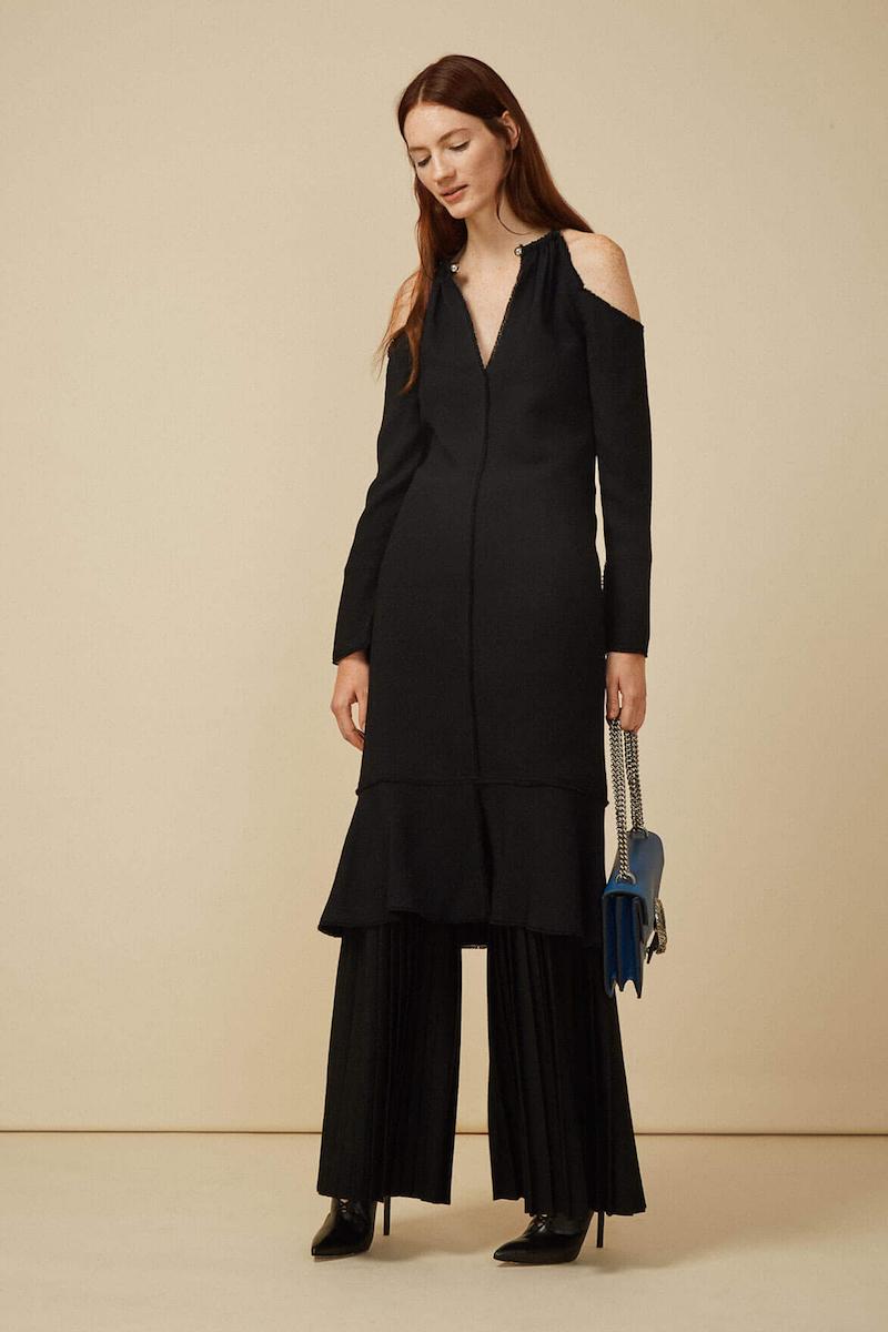 Proenza Schouler Cut-out Shoulder Choker Dress