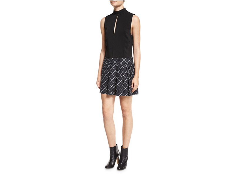 Rachel Zoe Naya Dress with Pleated Plaid Skirt