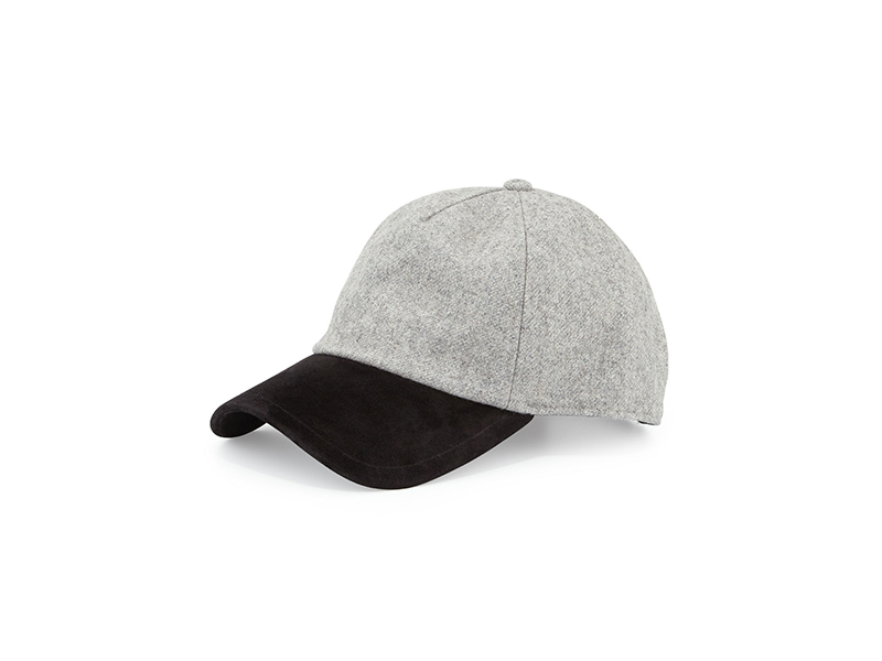 Rag & Bone Marilyn Suede & Wool-Blend Baseball Cap