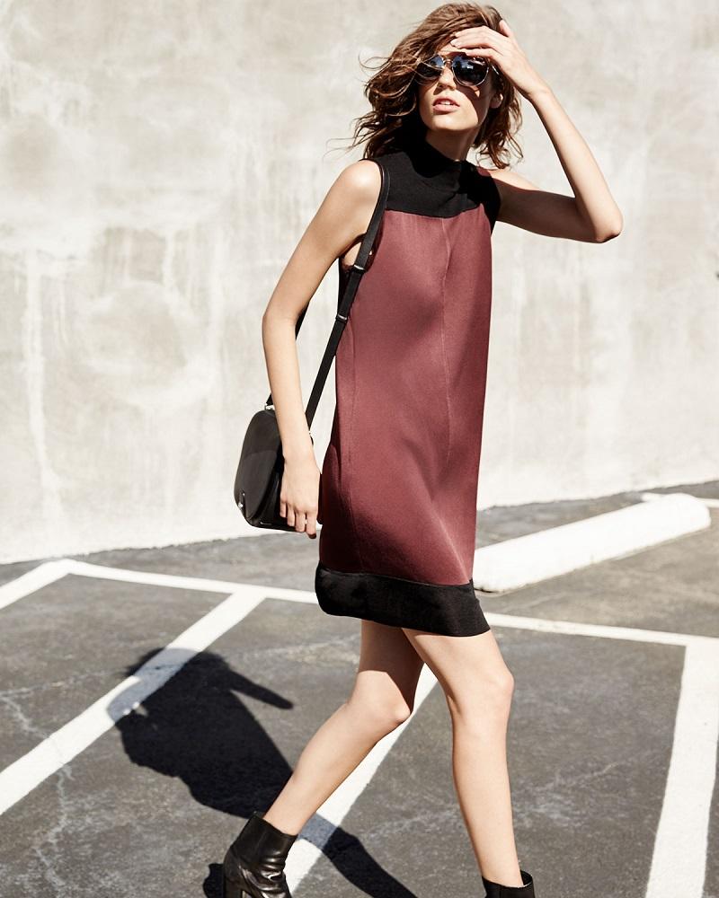 Rag & Bone Vivienne Chiffon Colorblock Shift Dress-