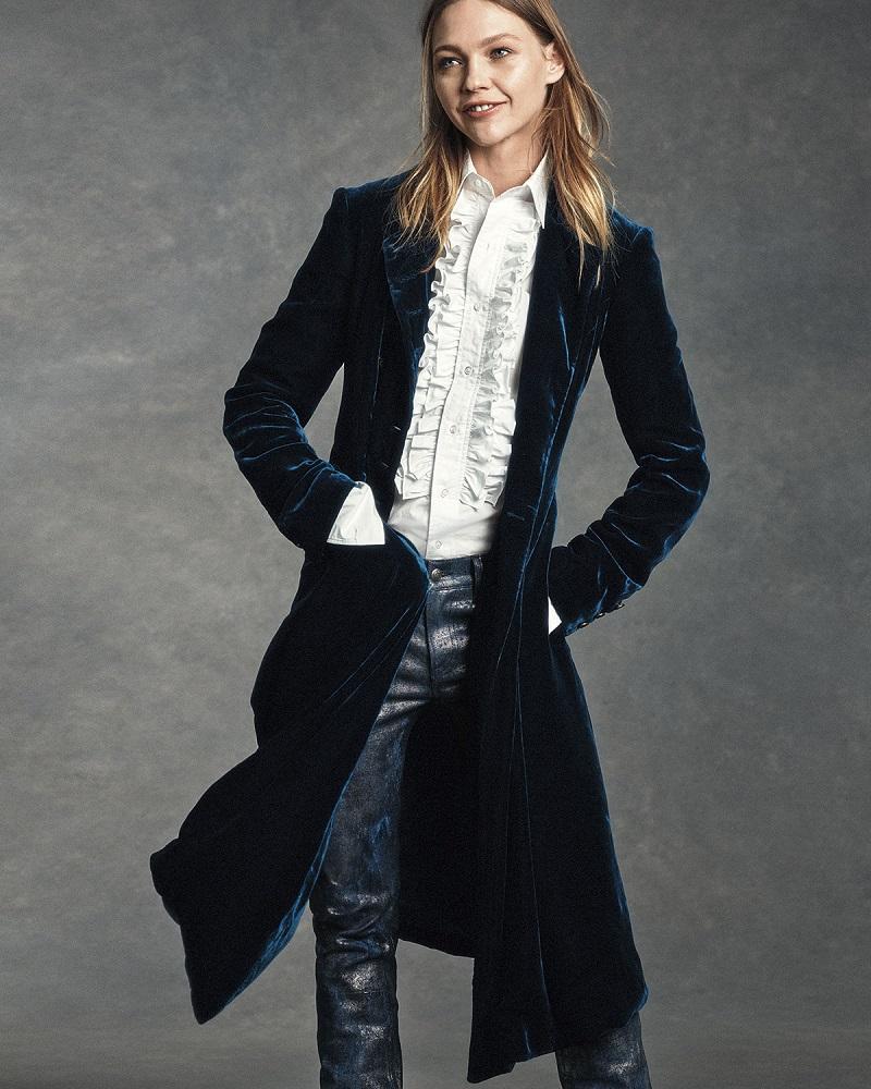 Ralph Lauren Collection Adriana Ruffled Cotton Blouse