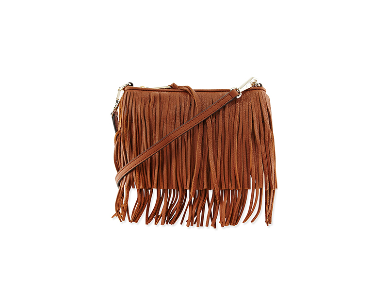 Rebecca Minkoff Finn Leather Fringe Crossbody Bag