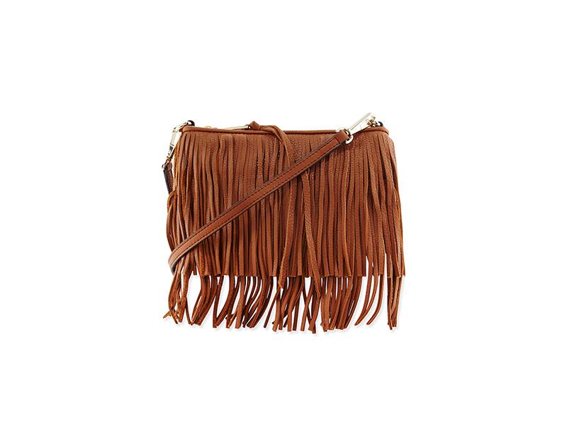 Rebecca Minkoff Finn Leather Fringe Crossbody Bag