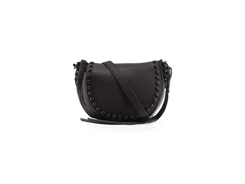 Rebecca Minkoff Pebbled Leather Studded Saddle Bag