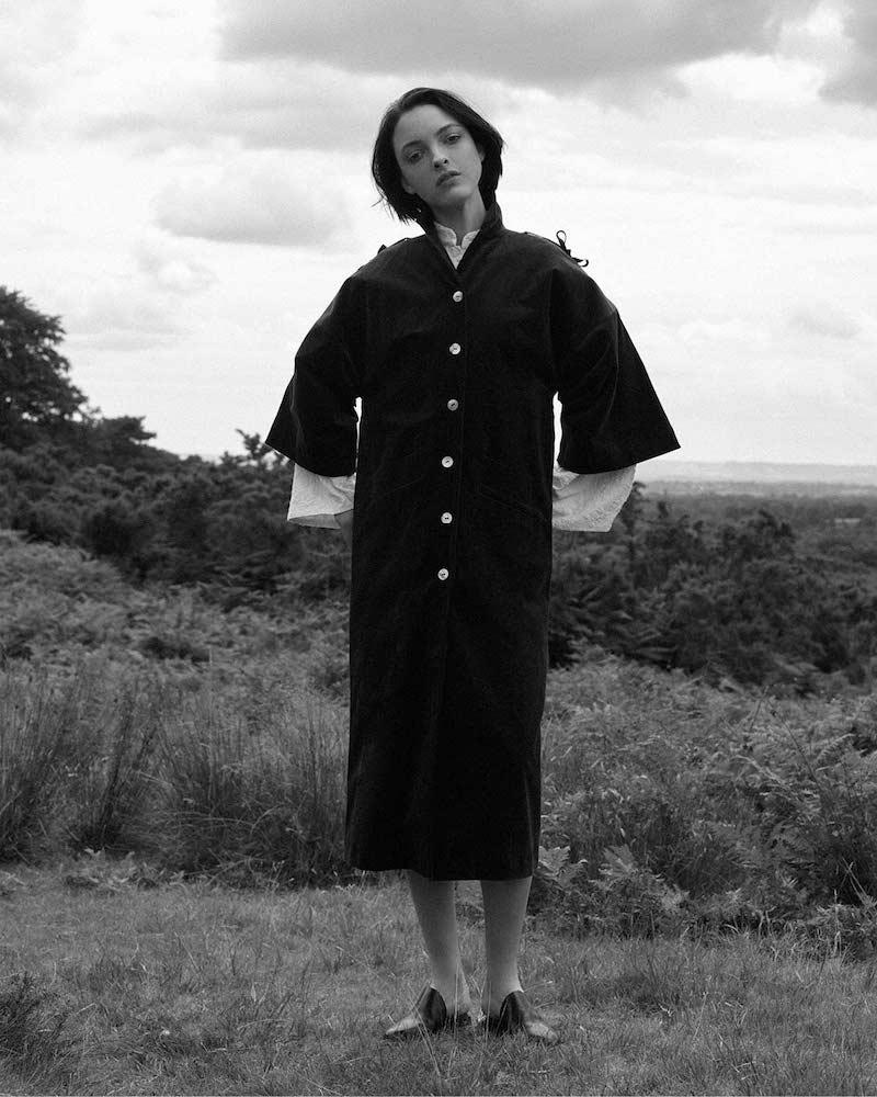 Renli Su Long Oversized Corduroy Coat