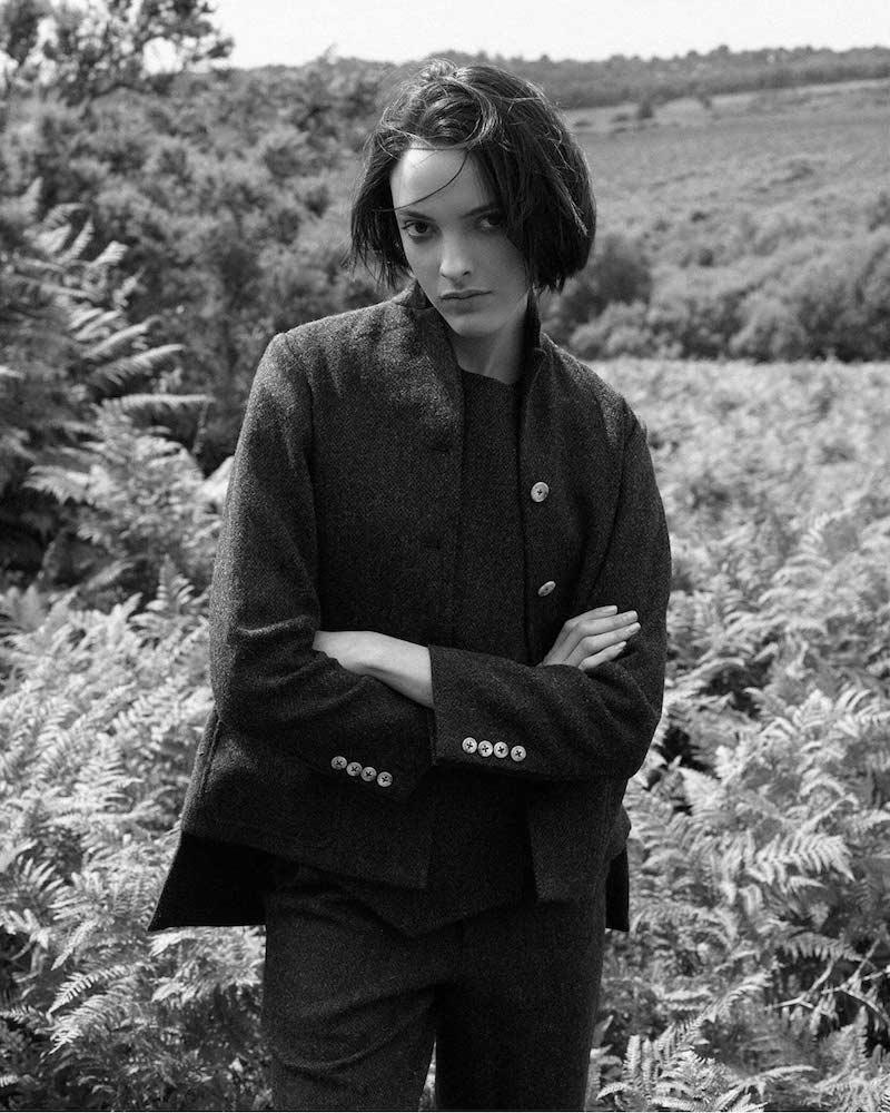Renli Su Tweed Blazer Jacket_1