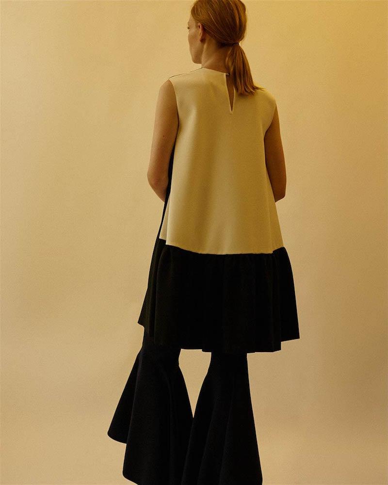 Roksanda Fuji Oversized Monochrome Dress