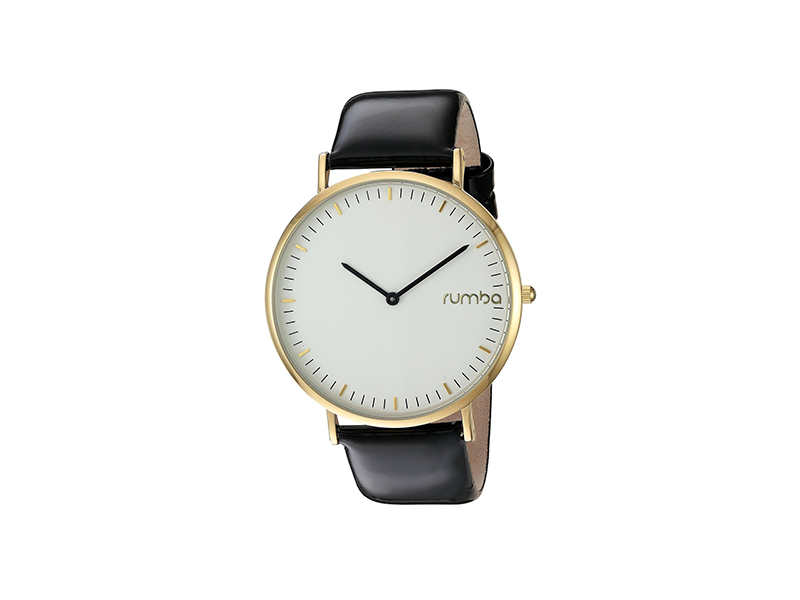RumbaTime SoHo Patent Leather Quartz Metal Casual Watch