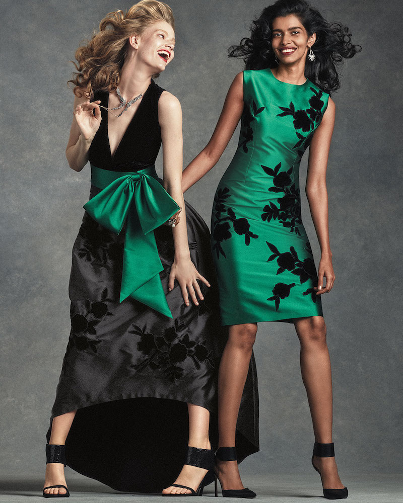 Sachin & Babi Noir Sleeveless High-Low Combo Gown