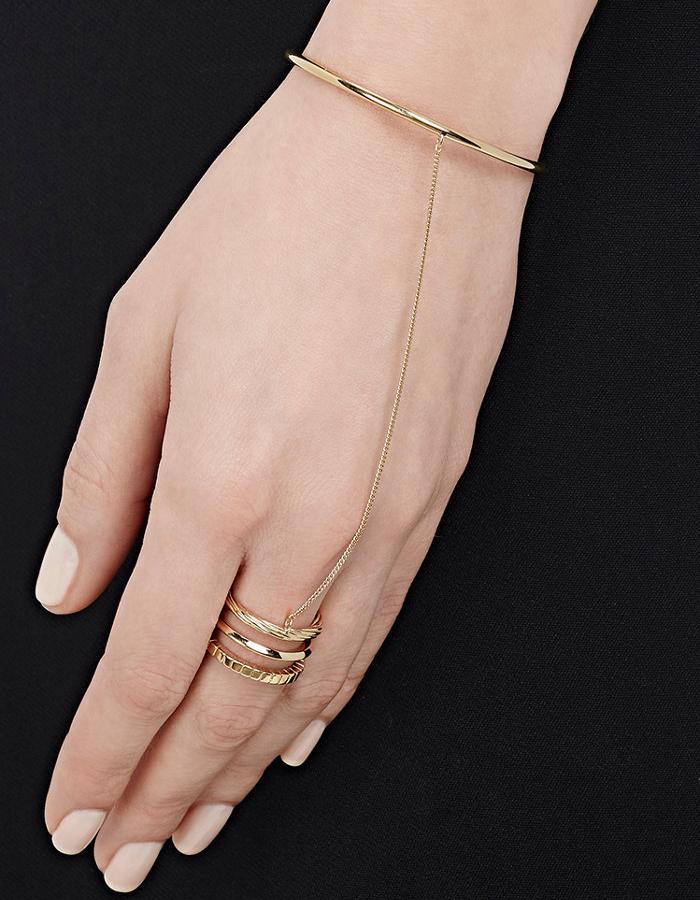 Saint Laurent Gold Vermeil Hand Bracelet