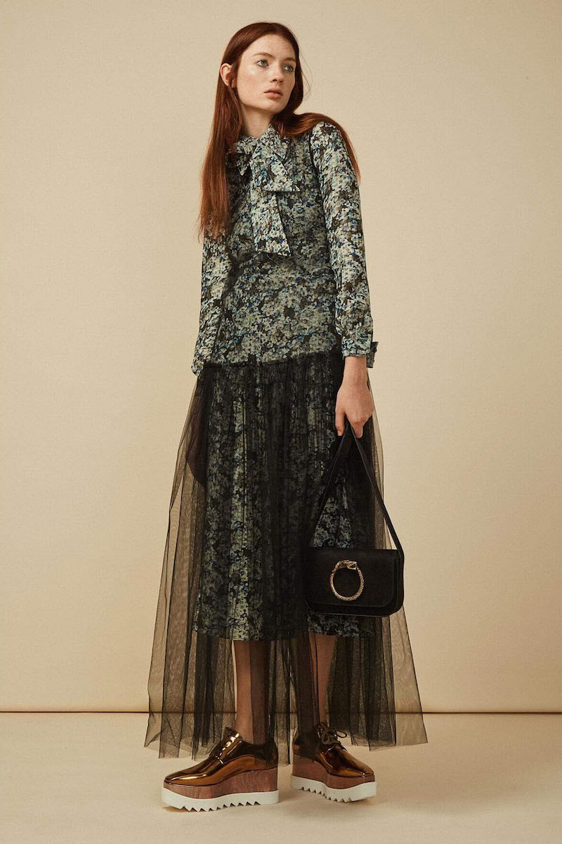 Saint Laurent Long Metallic Floral Embroidered Dress