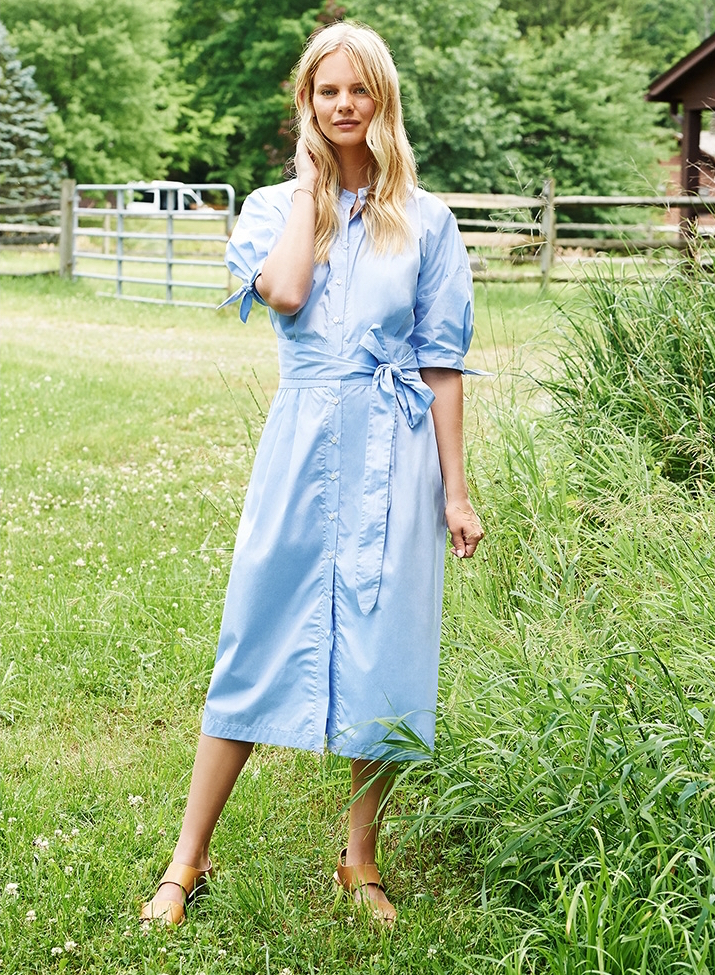 Sea Tied Shirtdress