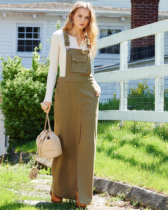 See by Chloé Overall Maxi Dress
