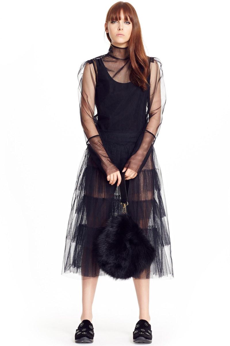 Simone Rocha Tiered Net Skirt