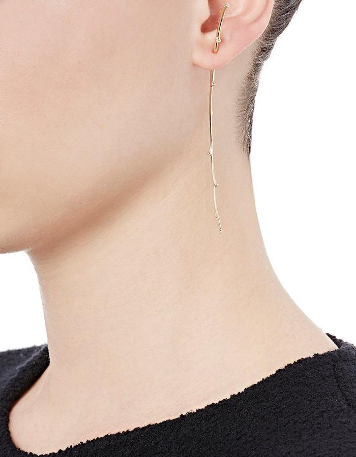 Sophie Bille Brahe Arbre Long Twig Earring