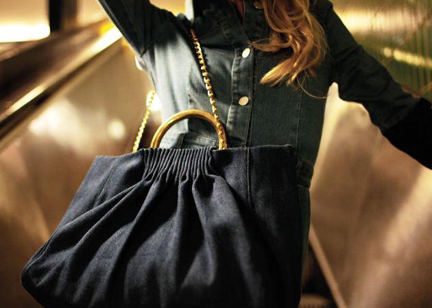 Stella McCartney Denim Nina Medium Shoulder Bag 4b93032bf3d2e