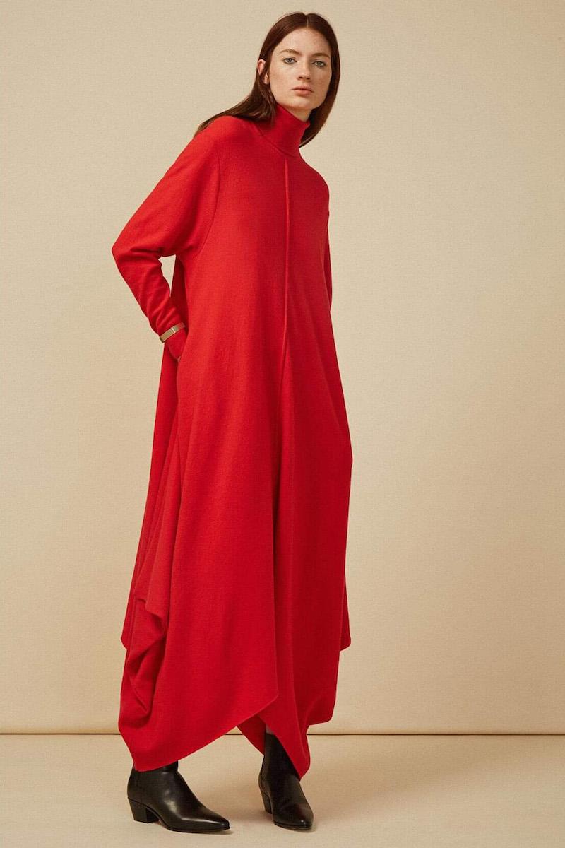 Stella McCartney Oversized Felted Roll Neck Dress