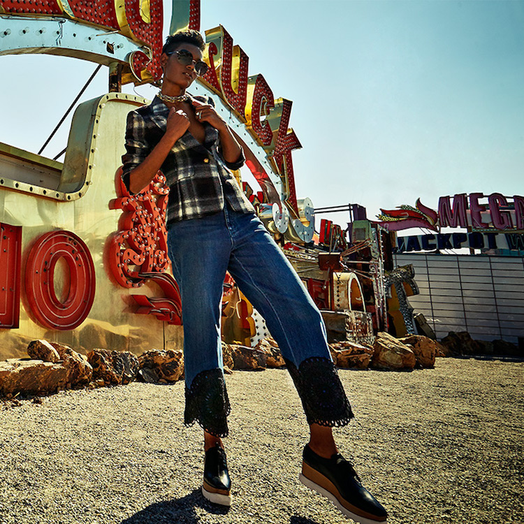 Stella McCartney Scalloped Hem High-Rise Kick Flare Jeans