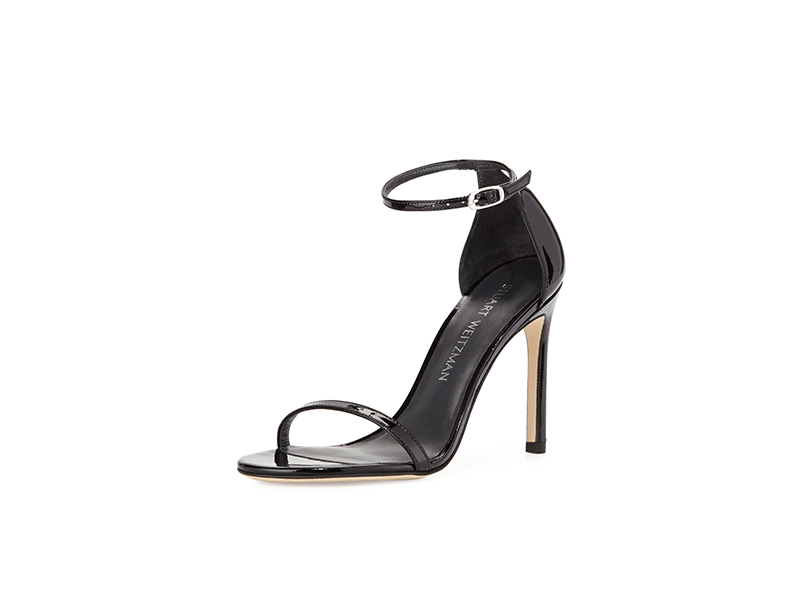 Stuart Weitzman Nudistsong Patent Ankle-Strap Sandal
