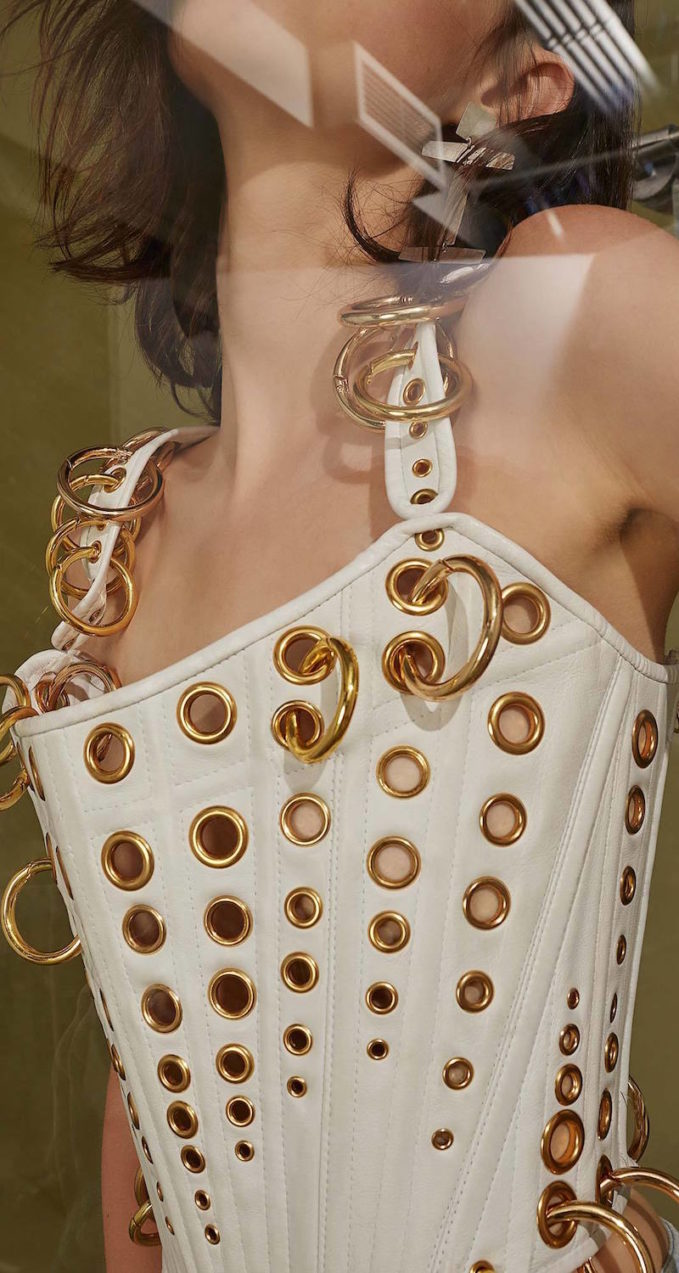 The Blonds Gold Ring Corset Top