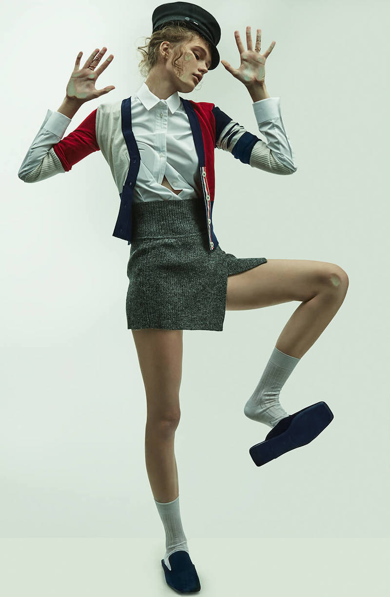 Thom Browne Color Blocked Cashmere Cardigan