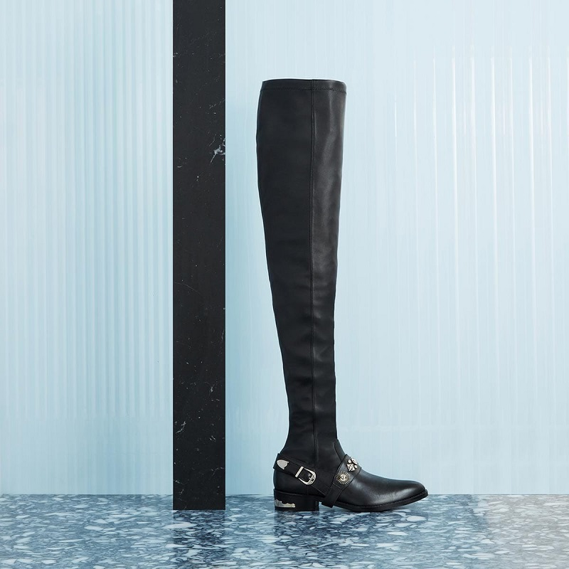 Toga Pulla Cowboy over-the-knee leather boots