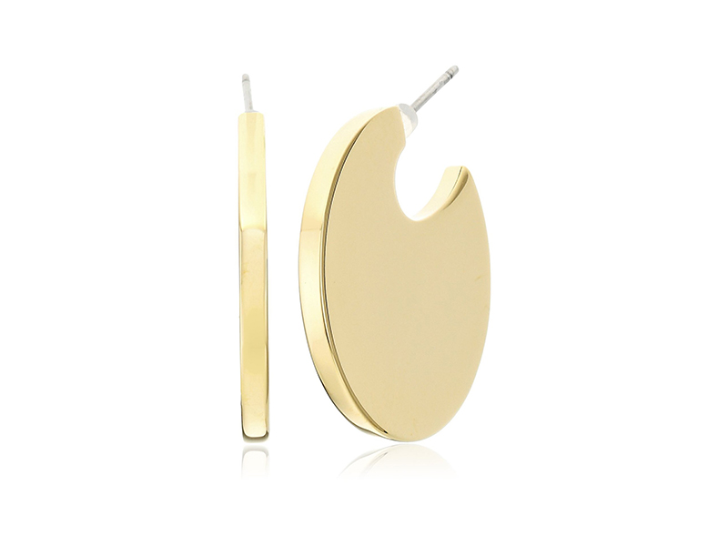 Trina Turk Psychadelica Flat Circle Hoop Earrings