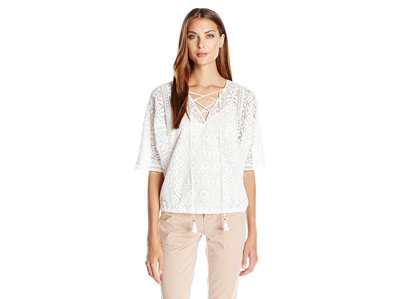 Twelfth Street by Cynthia Vincent Geo Lace Blousant Top