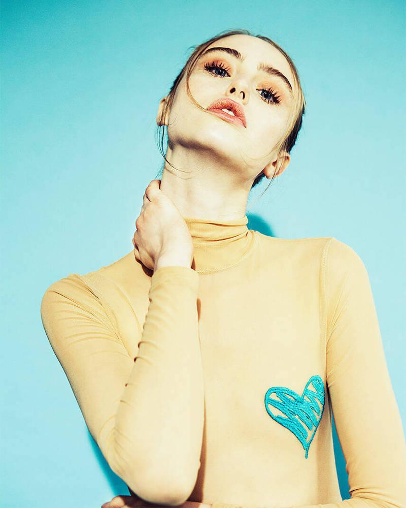 Underwater Love White Milano + Highsnobiety Hearts Embroidered Tulle Bodysuit_1