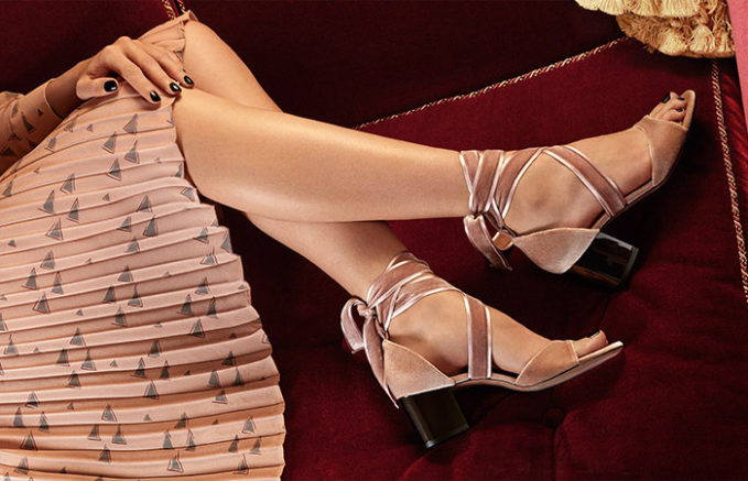 Valentino Tie-Neck Geometric-Print Blouse