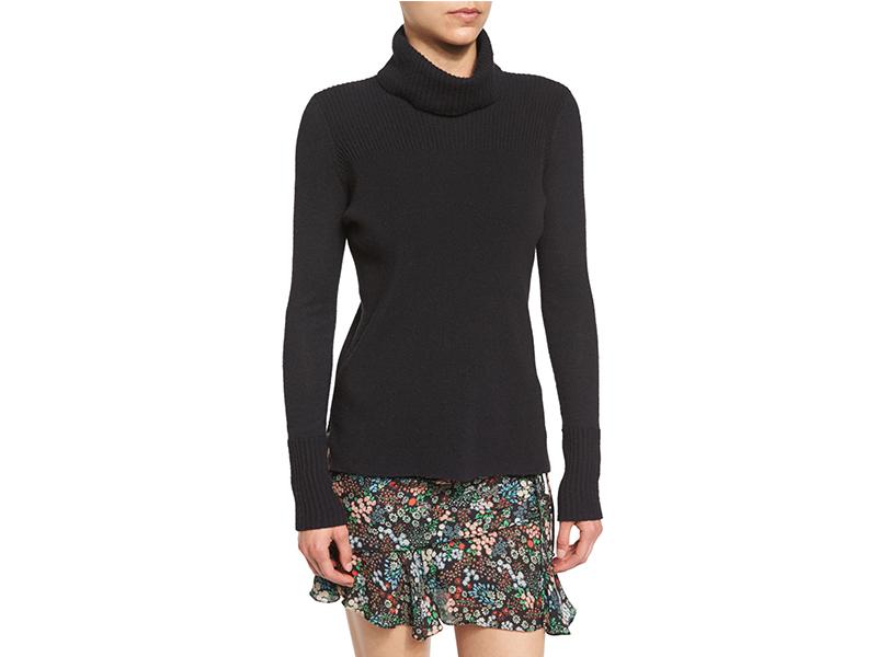 Veronica Beard Asa Ribbed Cashmere Turtleneck Sweater_1