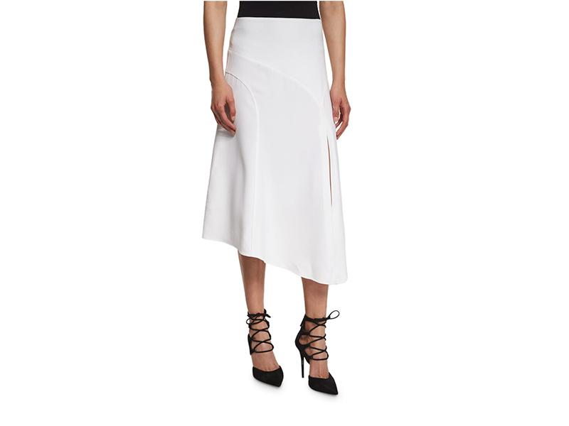 Veronica Beard Maverick Asymmetric Midi Skirt