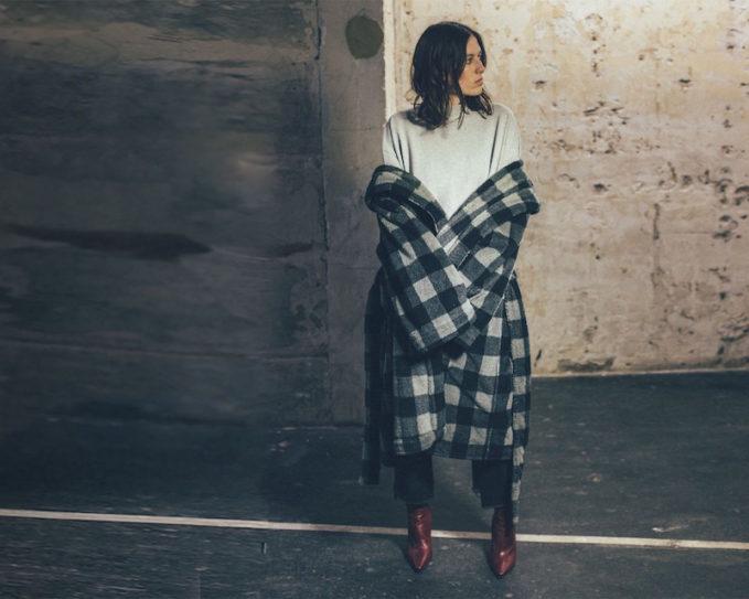 Vetements Checked Hooded Fleece Robe Coat
