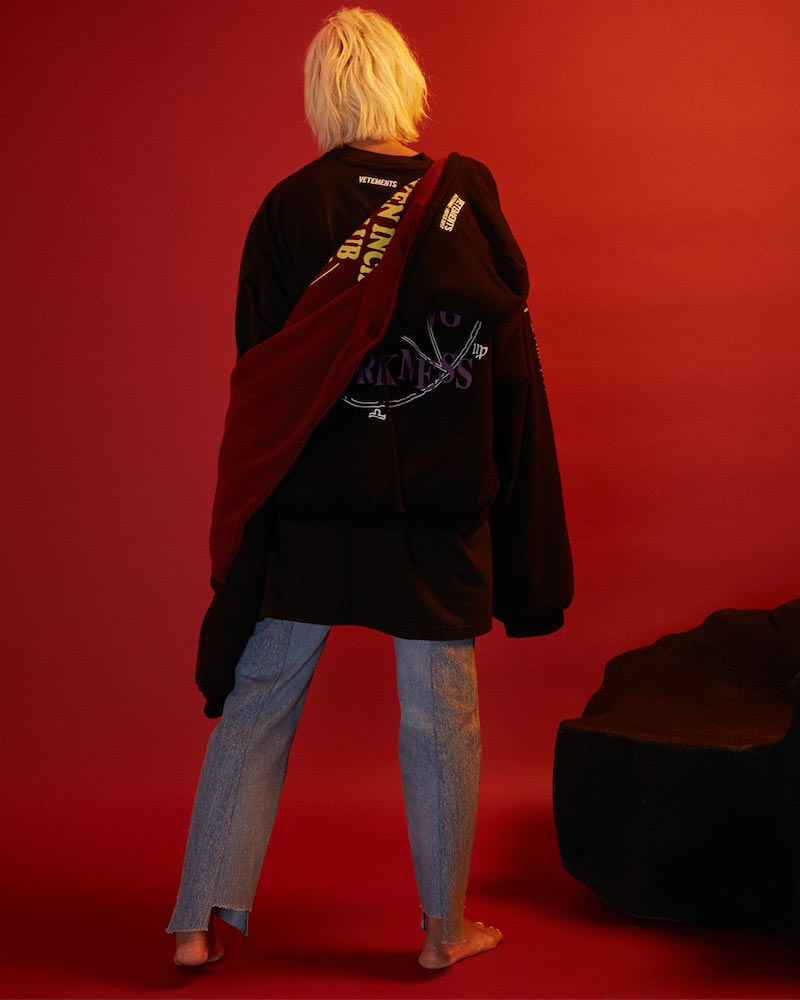 Vetements Oversized Reversible Hooded Sweater